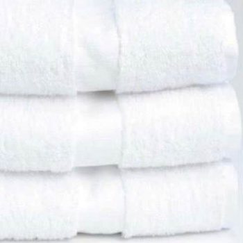 Dobby border hotel towels
