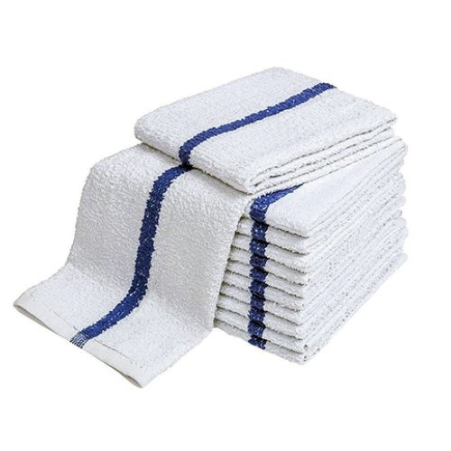 Blue Center Stripe Pool Towels - National Hotel Supplies Inc.